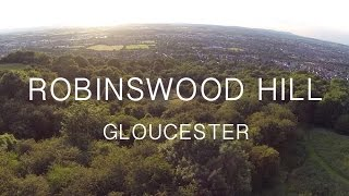 Robinswood Hill from the air, Gloucester, uk