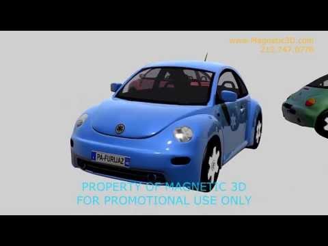 Magnetic 3D - Volkswagen Content - Beetle Rotation