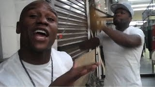 50 Cent & Floyd Mayweather Mock Conor McGregor over His Open Workout