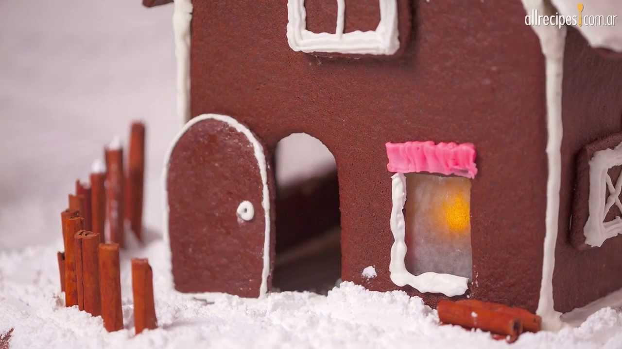 Cómo hacer una casita de jengibre - YouTube
