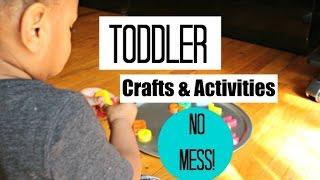 No Mess Toddler Crafts and Activities! | Amiyrah from Millennial Moms