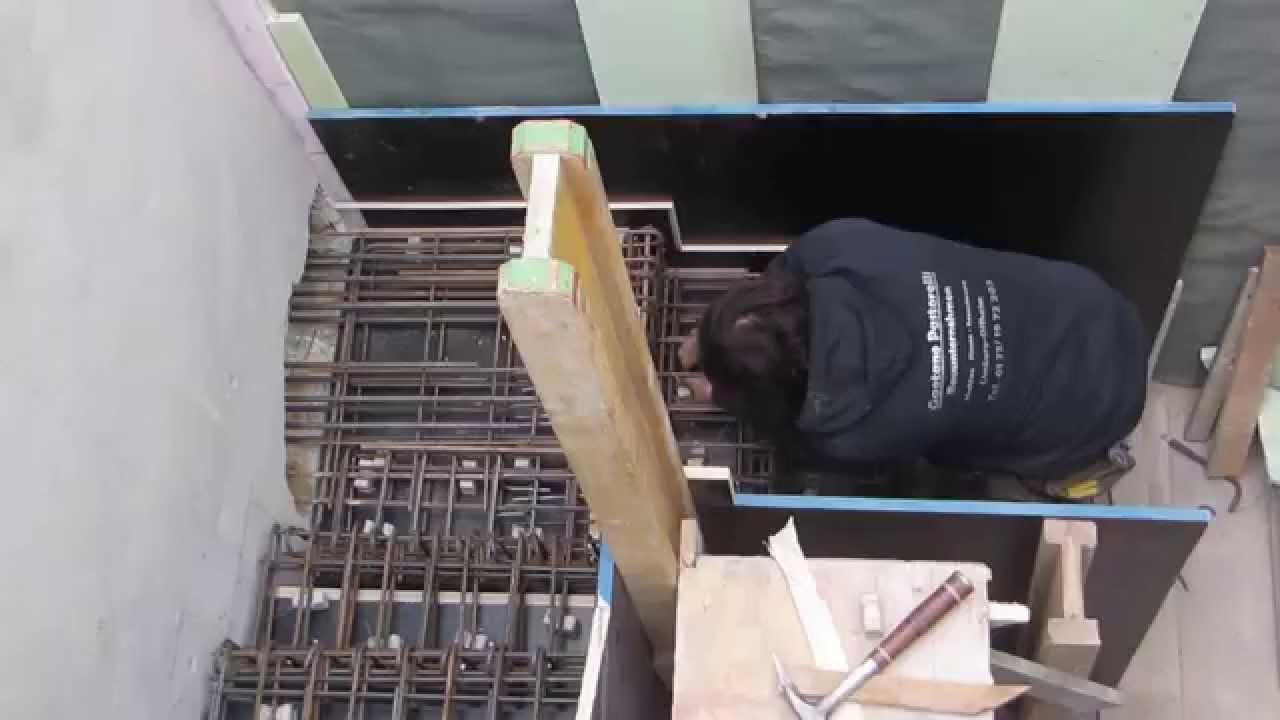 Treppenbewehrung Beton Faltwerktreppen Youtube