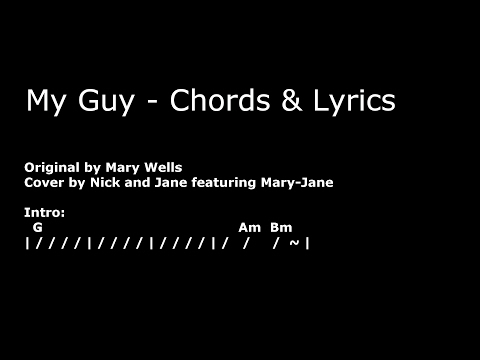My Guy Chords and Lyrics - Mary Wells Cover
