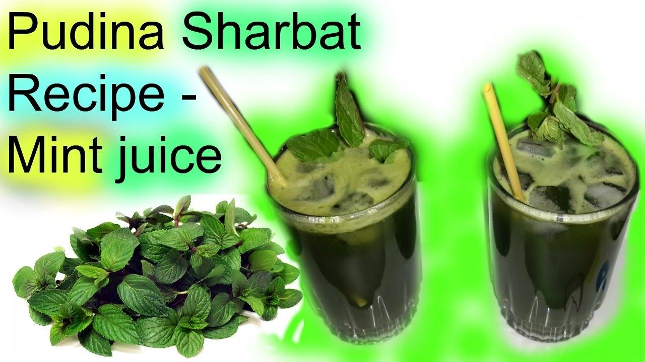 How to Make Pudina Sharbat (Mint Juice)