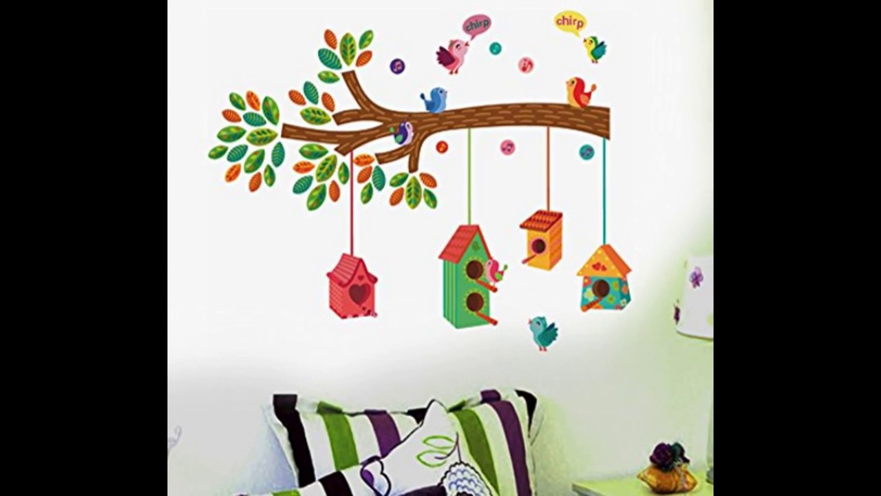 Decorate Your Room With Wall Stickers Easy Home Decor Youtube