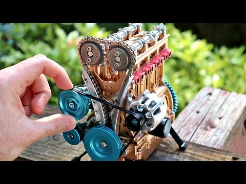 4 Cylinder Model Engine Build - All Metal Mini Engine