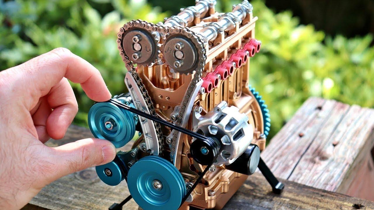 Download 4 Cylinder Model Engine Build - All Metal Mini Engine