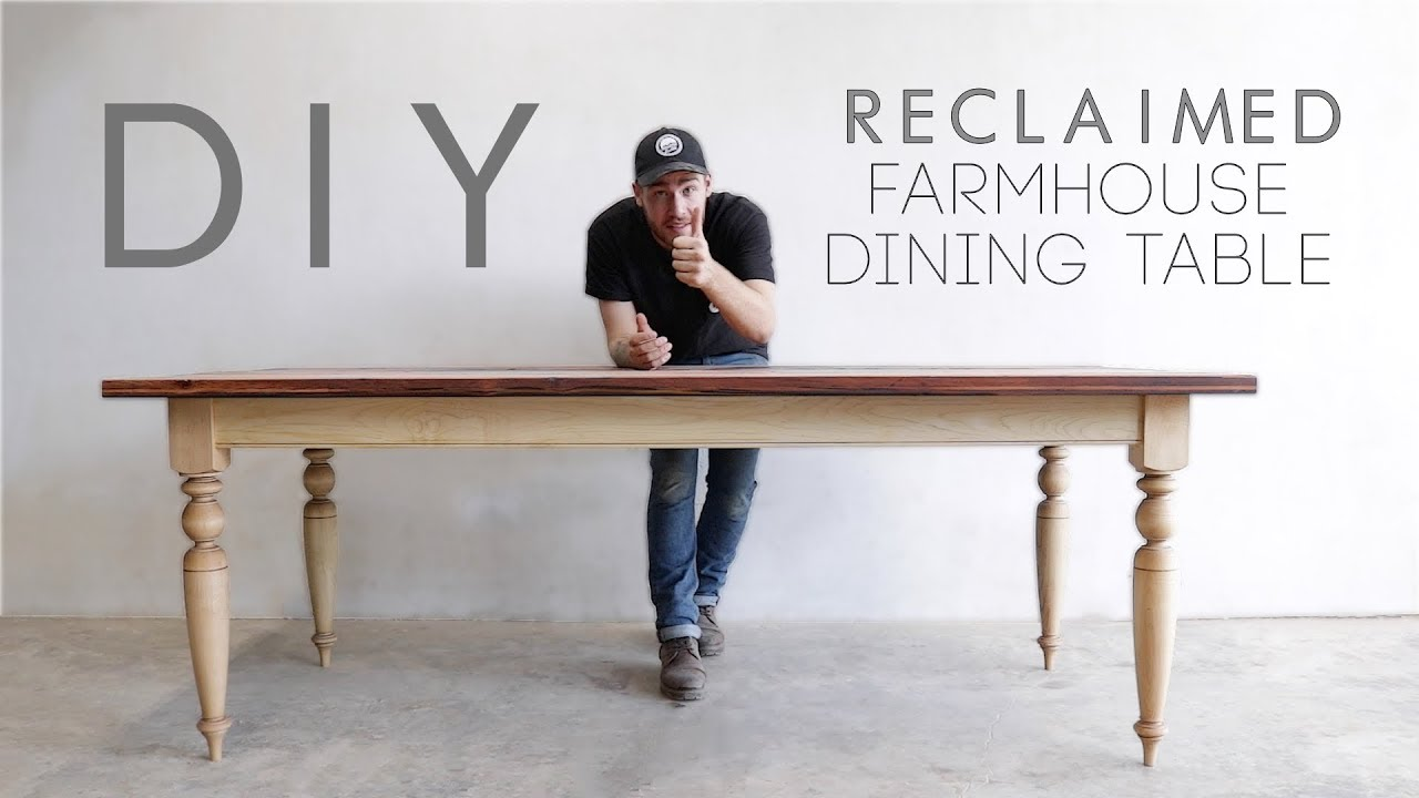 Building A Reclaimed Wood Top Dining Table Modern Builds Ep 70