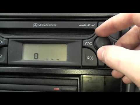 how to unlock your car stereo, mercedes audio 10 stereo - youtube