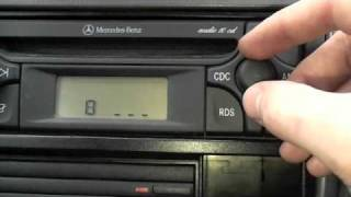 Repeat youtube video How to unlock your car stereo, Mercedes Audio 10 stereo
