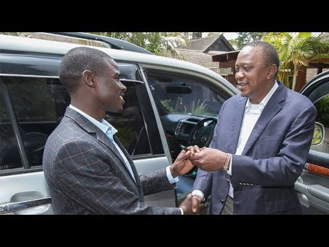 Uhuru gifts 23-yr-old who made it to MP with nothing but sweater on his back, a Prado
