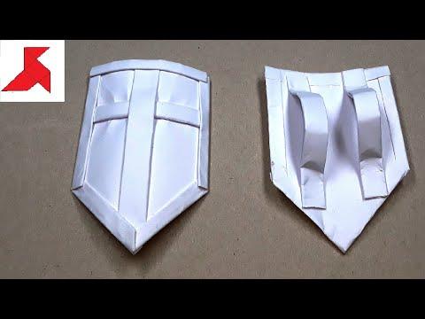 DIY 🛡️ - Как сделать ЩИТ из бумаги А4 своими руками