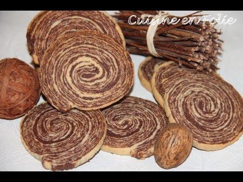 Sablés spirale chocolat-vanille