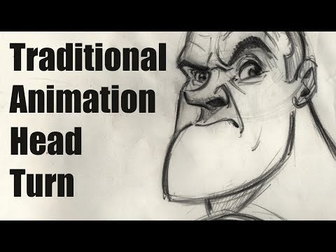 Traditional Animation  Head Turn