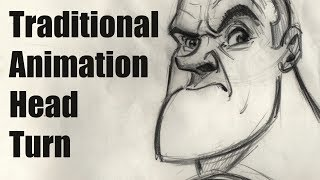 Traditional Animation - Head Turn