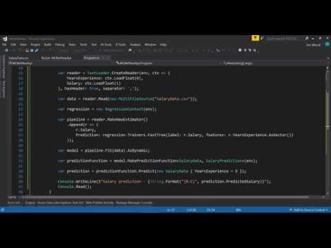 A Look at the New ML.NET API