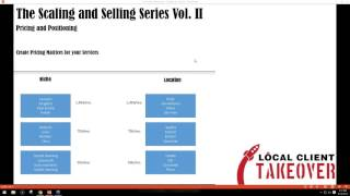 Perfect Pricing and Positioning - The Scaling and Selling Series - Video 1