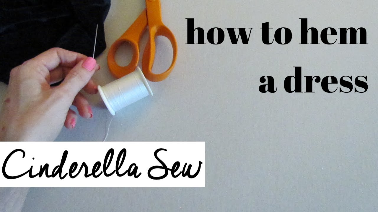 How to hem a dress - No sewing machine - Hand sewing hemming tutorial - Easy way to hem clothing DIY