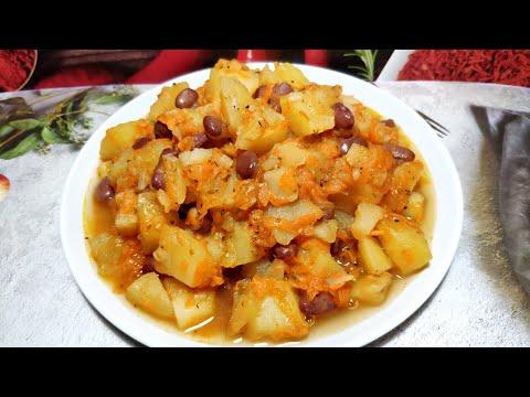 Рагу с картошкой и фасолью в мультиварке