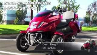 3 wheels trike motorcycle mc d300 tkb sunny 300cc roadrunner trikes at scooterdepot us for 3 999