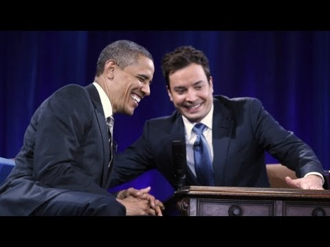 "Jimmy Fallon describes his ""slow jam"" with Obama"