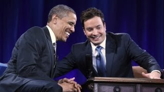 """Jimmy Fallon describes his """"slow jam"""" with Obama"""