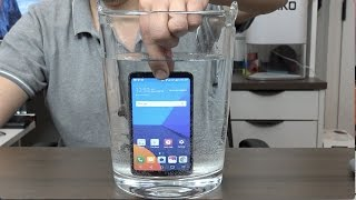 LG G6 TEST BAJO EL AGUA y carga inalámbrica