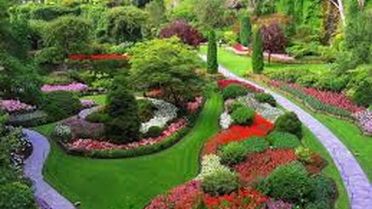 Desain Taman Bunga Di Halaman Rumah Masa Kini Youtube
