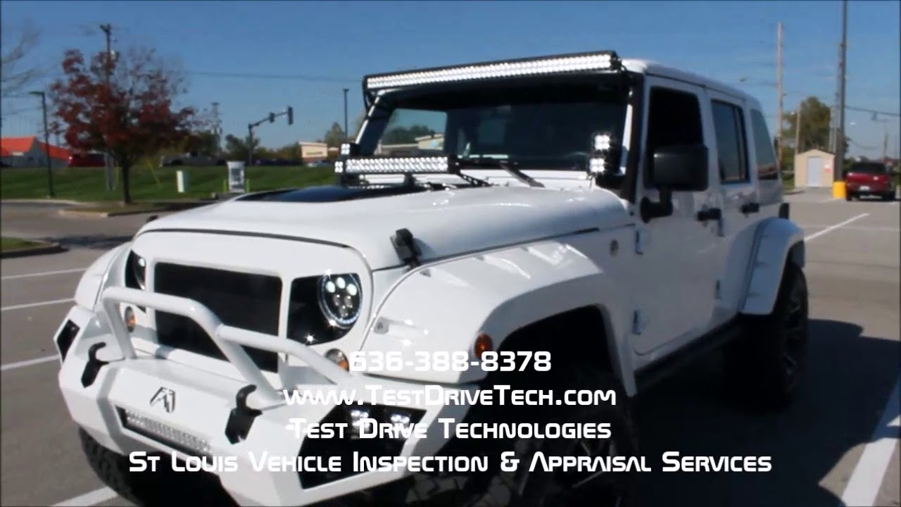 2016 Jeep Wrangler Unlimited Sport Custom Used Car Inspection Video