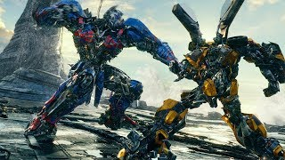 Bumblebee vs Nemesis Prime Fight Scene - Transformers: The Last Knight (2017) Movie Clip HD