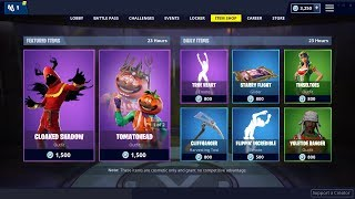 NEW CLOAKED SHADOW SKIN: Fortnite Item Shop