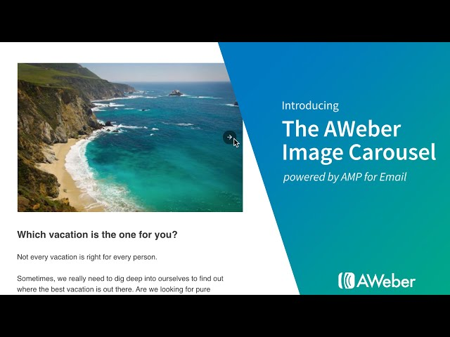 Introducing the AWeber Image Carousel powered by AMP for Email