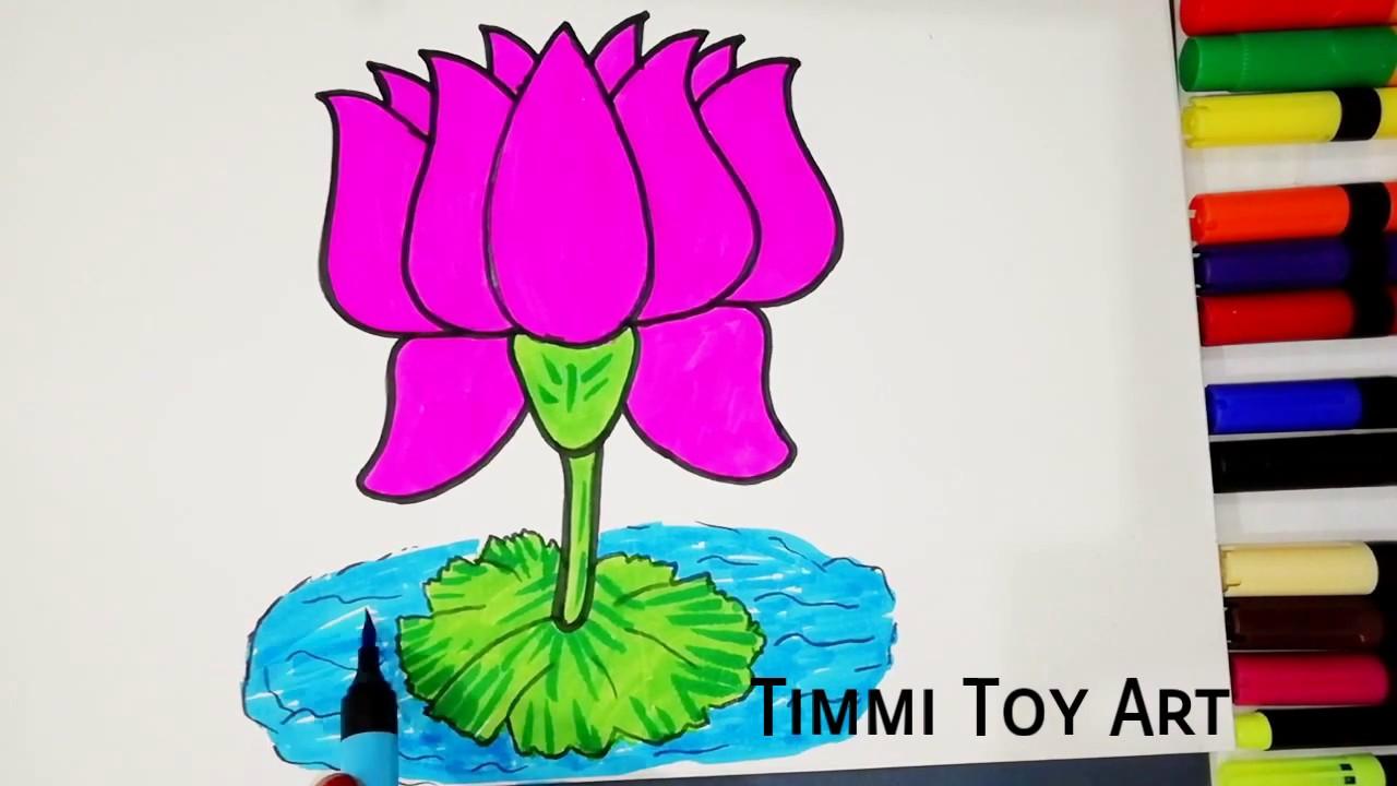 How to draw lotus flower coloring lotus flower timmi toy art how to draw lotus flower coloring lotus flower timmi toy art 2018 mightylinksfo