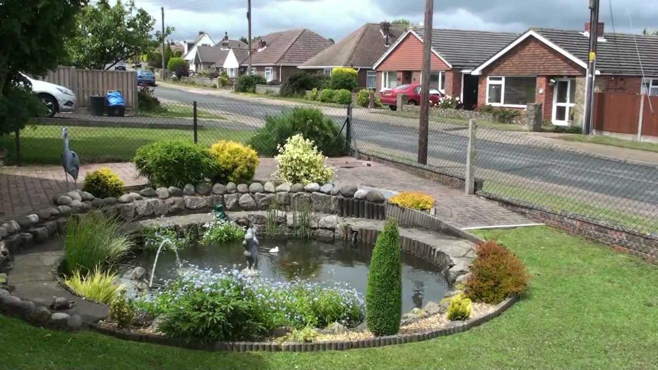Round Fish Pond In Front Garden June 2011 Capel Le Ferne Youtube