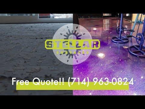 Epoxy Floor - 6 POUNDS OF GLITTER - Costa Mesa
