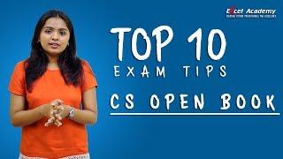 CS Open Book Exam Top 10 tips