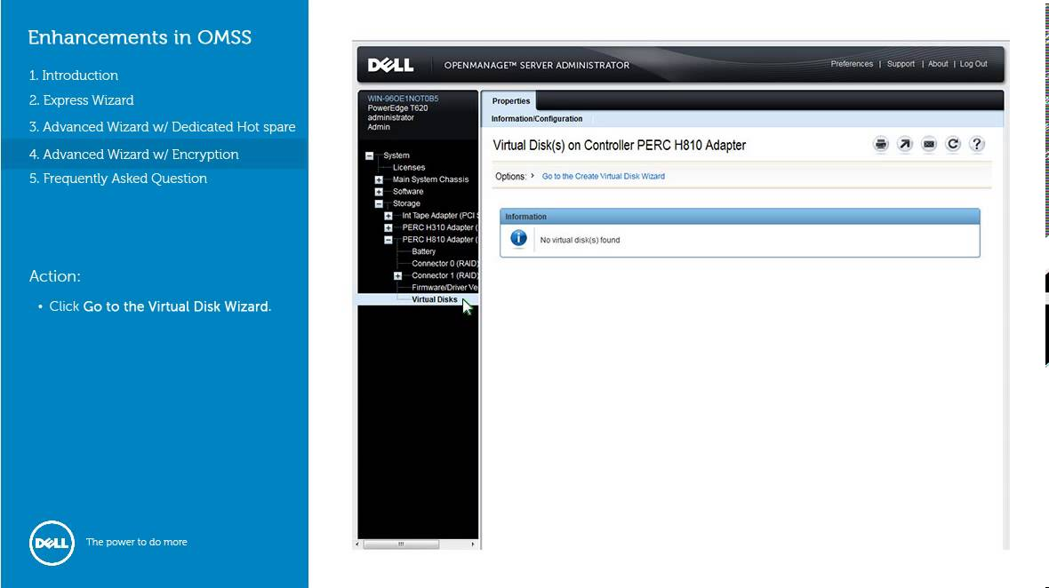 OpenManage Storage Services 7 2 - Enhancements in virtual Disk Creation  Wizard