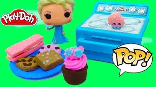 Disney Queen Elsa Play-doh Sweet Bakin Creations Cookies Cupcakes Treats POP Vinyl Food Oven