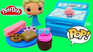 Disney Queen Elsa Play-doh Sweet Bakin Creations Cookies Cupcakes Treats POP Vinyl Food Oven