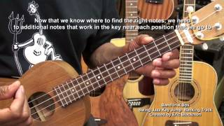 how to play your very first jazz solo on ukulele tutorial lesson ericblackmonmusichd 1