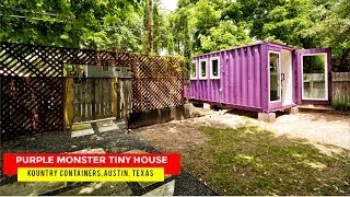 Purple Monster Tiny House: Kountry Containers, Austin, Texas