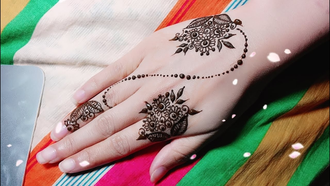 Mehndi Flower Arrangements : Mini flower bouquets henna tutorial youtube