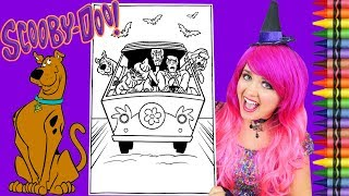 Coloring Scooby Doo & Friends Mystery Machine GIANT Coloring Page Crayola Crayons | KiMMi THE CLOWN