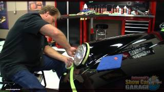 How to tape-off car trim before machine polishing
