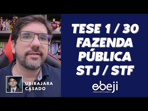 🔴 TESES DA FAZENDA STJ/STF - TESE 1 DE 30 - AULA INAUGURAL 🔴