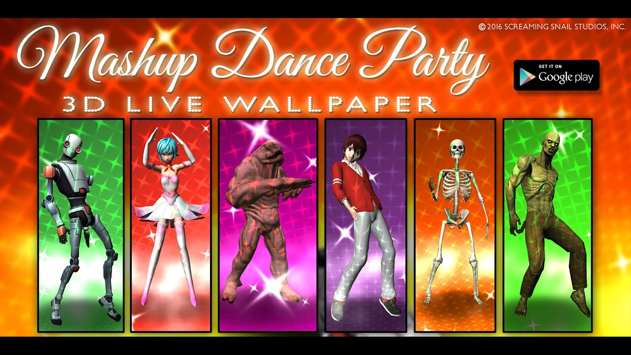 Mashup Dance Party 3d Live Wallpaper For Android Youtube