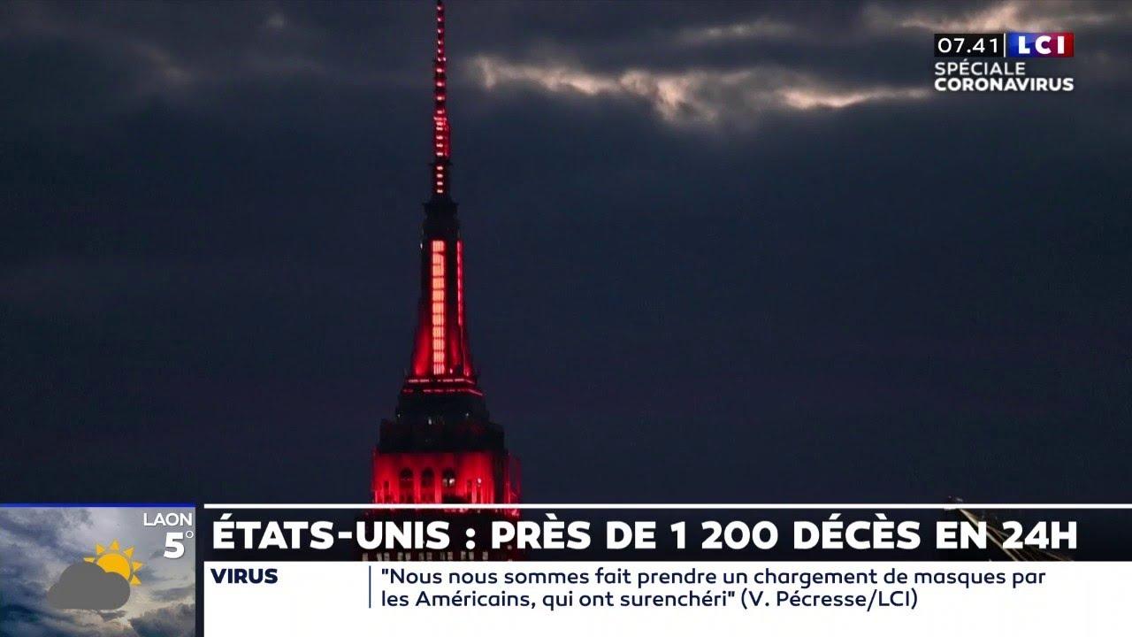 Coronavirus : en hommage aux soignant, l'Empire State Building s'illumine