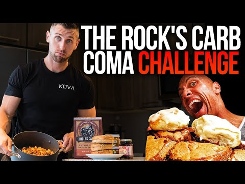 I tried THE ROCK's CARB COMA Cheat Meal