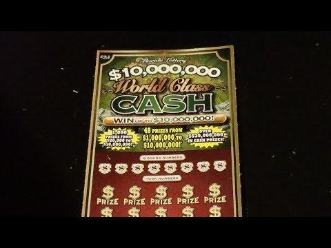 Big Ticket Tonight 3: $25 $10M WORLD CLASS CASH FL Lottery Scratch Ticket