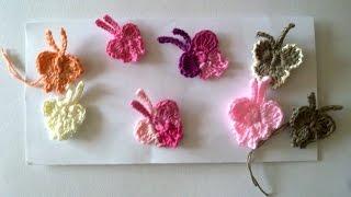 Мини бабочка крючком. ( Mini butterfly crochet.)